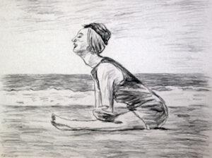 Mme Lautrec à la plage