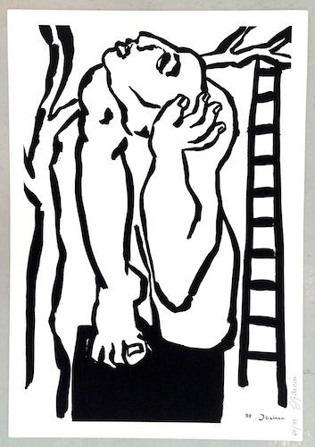 Jacqueline Gainon n° 2078 [Sans titre] 1998 Serigraphie monochrome sur papier. Tirage numéroté à 75 exemplaires, datée et signée. 65 x 45 cm