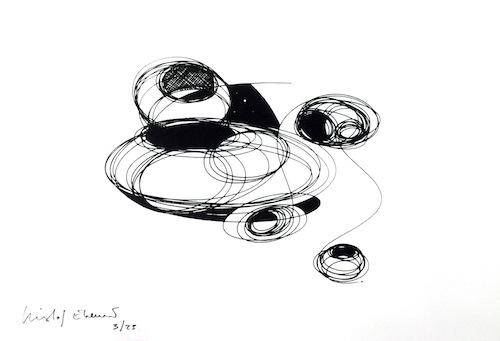 Kristof Everart n° 2074 [Sans titre] 2014 Sérigraphie monochrome sur papier Velin dArches 250g. Bords frangés grain torchon.Tirage 25 épreuvres... 23 x 33 cm ©Eva Vautier