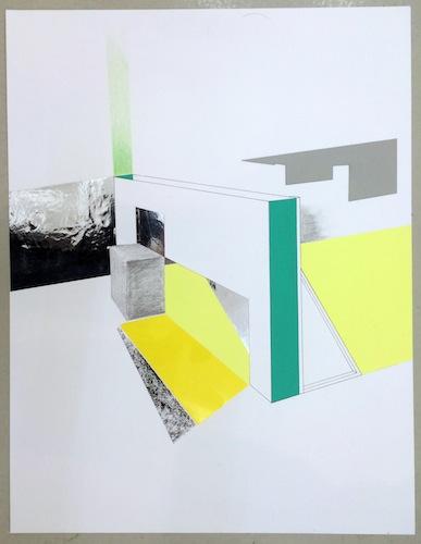 Pauline Brun n° 5377 [Dessin préparatoire à pièce de...] 2014 Série de dessins,Papiers, graphite, découpe, collage 50 x 65 cm