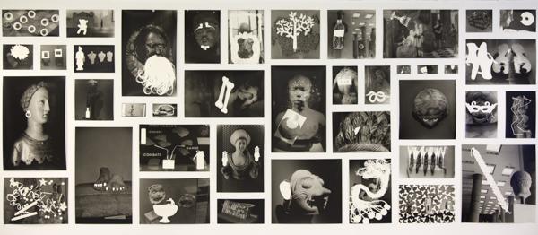 Anita Gauran, Rayogrammes Série Sans titre, 2013-15 Epreuves argentique sur papier baryté, épingles