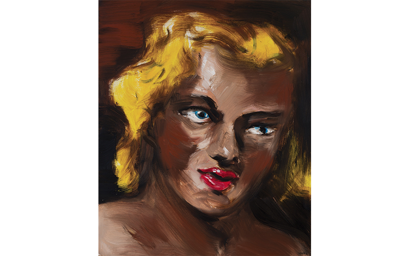 "Gregory Forstner, ""Blondie Red Lips"", 2009, 56 x 38 cm, huile sur toile"
