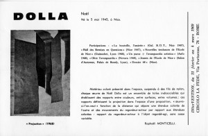 1969 invitation intervention dolla a rome