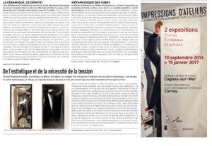 Article de presse de Florian Pugnaire paru dans le numéro 260 du magazine de La Strada du 26 Septembre au 9 Octobre 2016
