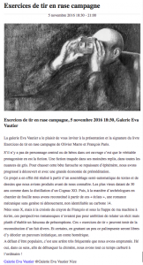 Article de presse Exercices de tir en rase campagne
